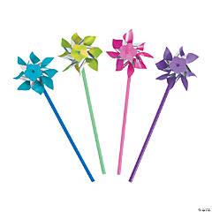 Plastic Bright Pinwheels