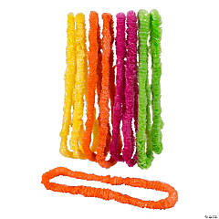 Plastic Bright Tropical Lei Assortment