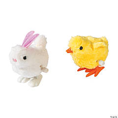 Plastic Bunny & Chick Wind-Up Toys PDQ