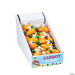 Plastic Bunny in Carrot Pull-Back Toys PDQ