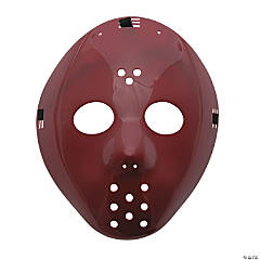 Plastic Burgundy Hockey Masks
