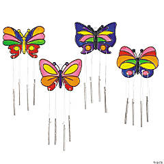 Plastic Butterfly Suncatcher Wind Chimes