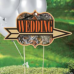Plastic Camouflage Wedding Yard Sign