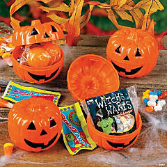 Plastic Candy-Filled Jack-O'-Lanterns