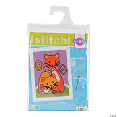 Plastic Canvas Kit -Playing Cats