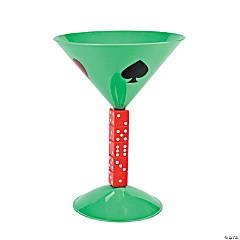 Plastic Casino Martini Glass