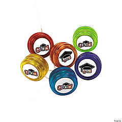 "Plastic ""Cheers To the Grad"" Mini Yo-Yos"