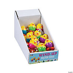 Plastic Chick Easter Egg Wind-Up Toys PDQ