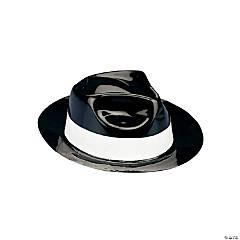 Plastic Child's Black Gangster Hats