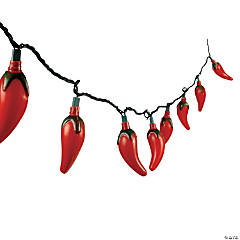 Plastic Chili Pepper Light Set