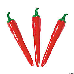 Plastic Chili Pepper Pens