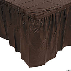 Plastic Chocolate Brown Pleated Table Skirts