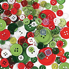 Plastic Christmas Bag of Buttons