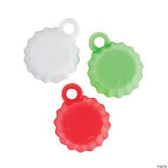 Plastic Christmas Bottle Cap Charms