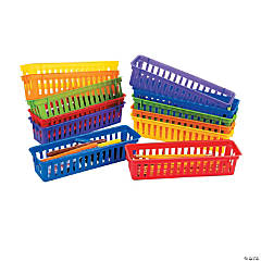 Plastic Classroom Pencil & Marker Baskets