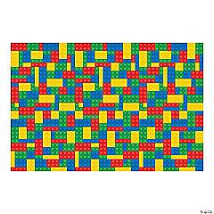 Plastic Color Brick Party Backdrop Banner