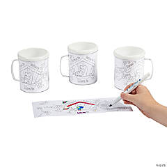 Plastic Color Your Own! Mom Artist Mugs