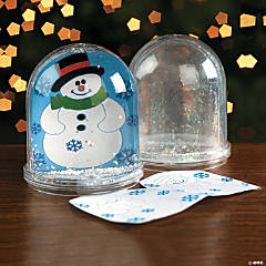 Plastic Color Your Own Snowman Snow Globes