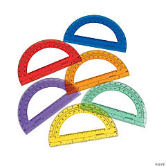 Plastic Colored Protractors