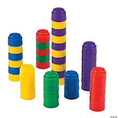 Plastic Colorful Counting Stacker Blocks