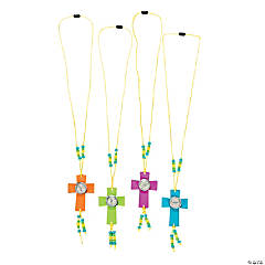 Plastic Compass Cross Necklace Craft Kit