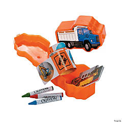Plastic Construction Truck Filled Stationery Sets