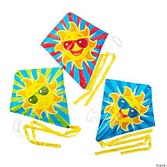 Plastic Cool Sun Kites with Tail