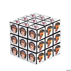 Plastic Crazy Face Magic Cubes