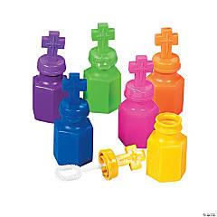 Plastic Cross Bubble Bottles - 12 Pc.