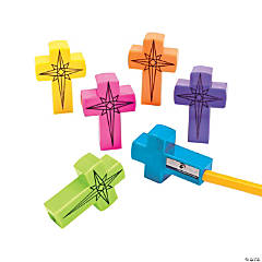 Plastic Cross Pencil Sharpeners