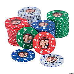Plastic Custom Photo Poker Chips