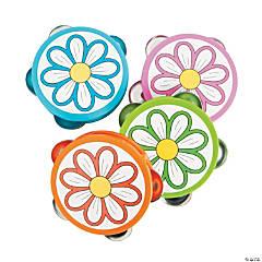 Plastic Daisy Tambourines