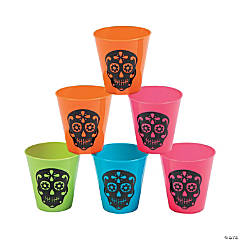 Plastic Day of the Dead Shot Glasses