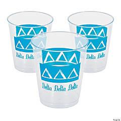 Plastic Delta Delta Delta Tumblers - 10 oz.