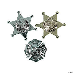 Plastic Deputy And Firefighter Badges