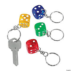 Plastic Dice Key Chains
