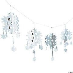 Plastic Dimensional Snowflake Garland