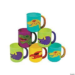 Plastic Dinosaur Mugs