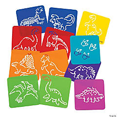 Plastic Dinosaur Stencils