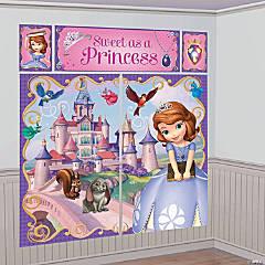 Plastic Disney's Sofia the First Giant Scene Setter Wall Decorating Kit