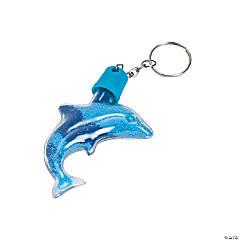 Plastic Dolphin Sand Art Bottle Keychains
