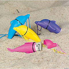Plastic Dolphin-Shaped Beach Safe Containers