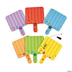 Plastic Double-Sided Dry Erase Paddles