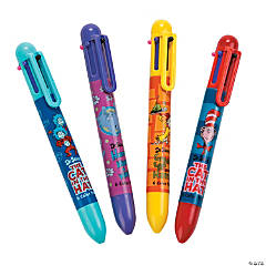 Plastic Dr. Seuss™ 6-Color Shuttle Pens
