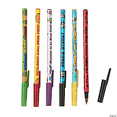 Plastic Drug Awareness Stick Pen Assortment