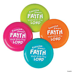 Plastic Exercise Your Faith Mini Flying Discs