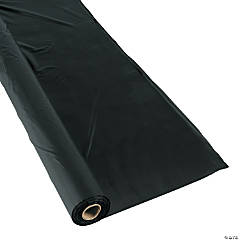 Plastic Extra Long Black Tablecloth Roll