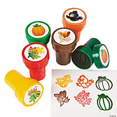 Plastic Fall Pumpkin Stampers