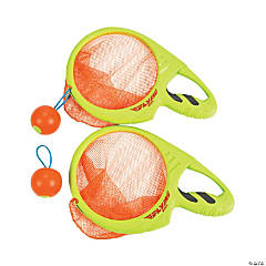 Plastic Fire Ball Catch & Launch Racket Game