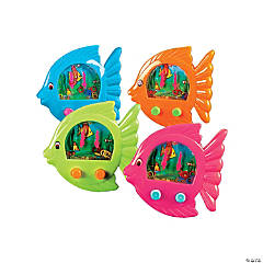 Plastic Fish-Shaped Ring Toss Water Games